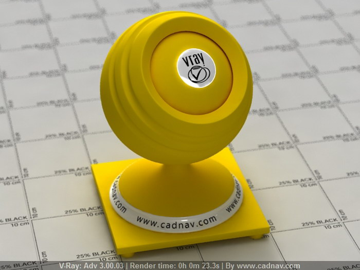 Yellow PVC material rendering