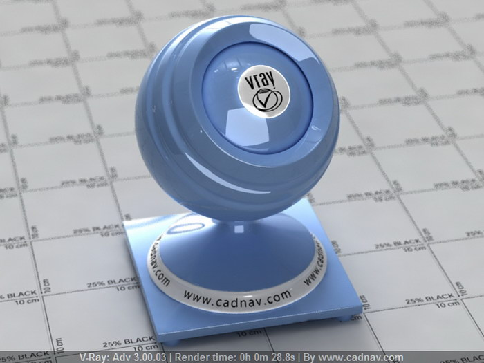 Polished Plastic Baby Blue material rendering