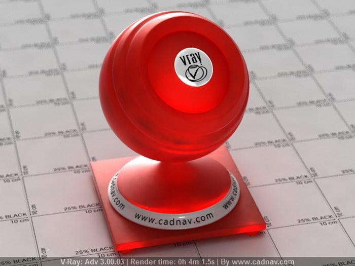 Translucent Red Plastic material rendering