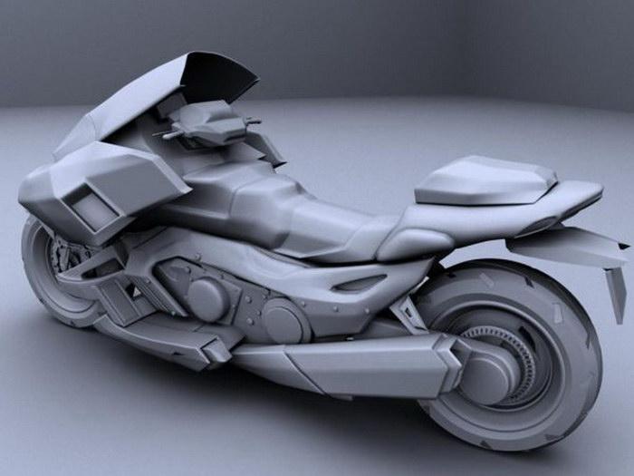 Future Motorcycle 3d rendering