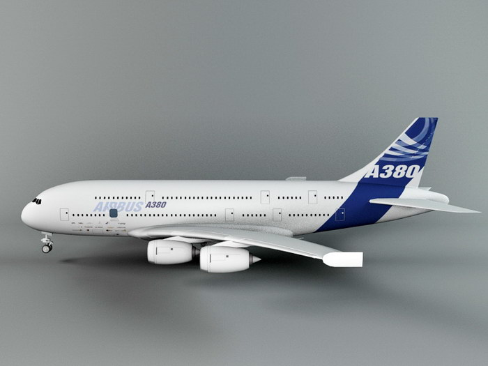 A380 Airliner 3d rendering