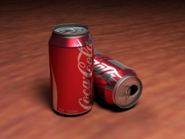Coca-Cola Cans 3d preview