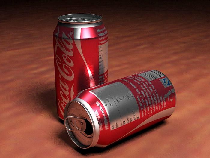 Coca-Cola Cans 3d rendering