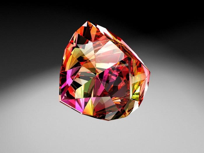 Red Diamond Ruby 3d rendering