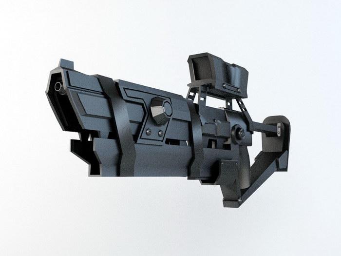 Future Combat Rifle 3d rendering
