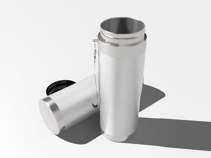 Stainless Steel Water Bottle 3d rendering