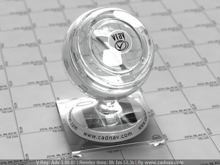 Sodium Silicate Glass material rendering