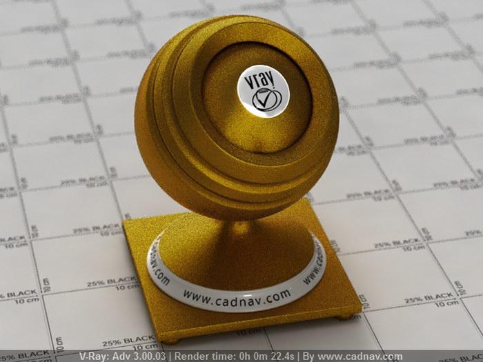 Gold Satin Fabric material rendering