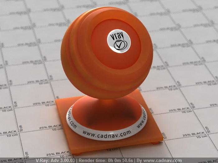 Orange Polypropylene material rendering