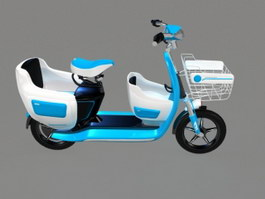 Light Blue Moped 3d preview