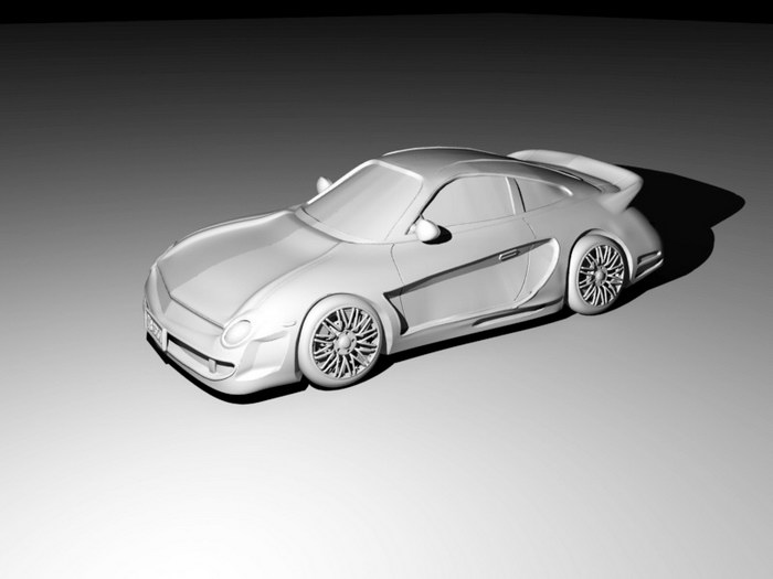 Cool Sports Car 3d rendering
