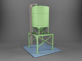 Sand and Gravel Storage Silo 3d preview