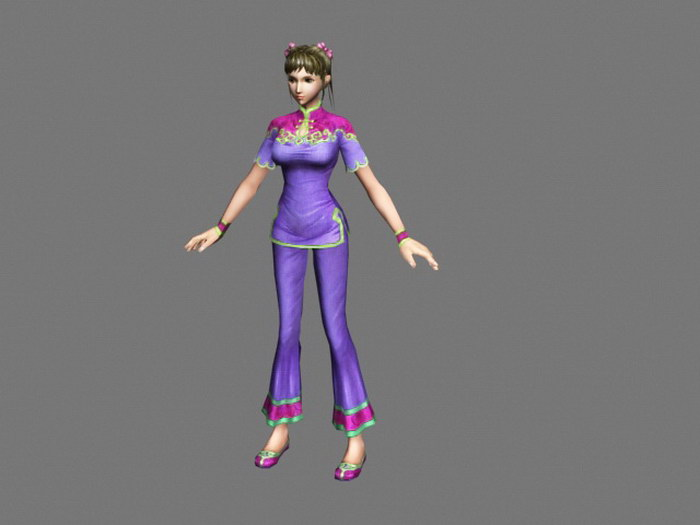 Traditional Chinese Girl 3d rendering