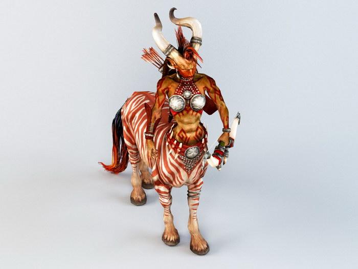 Female Centaur 3d rendering
