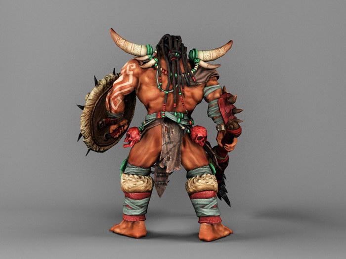 Orc Mauler 3d rendering