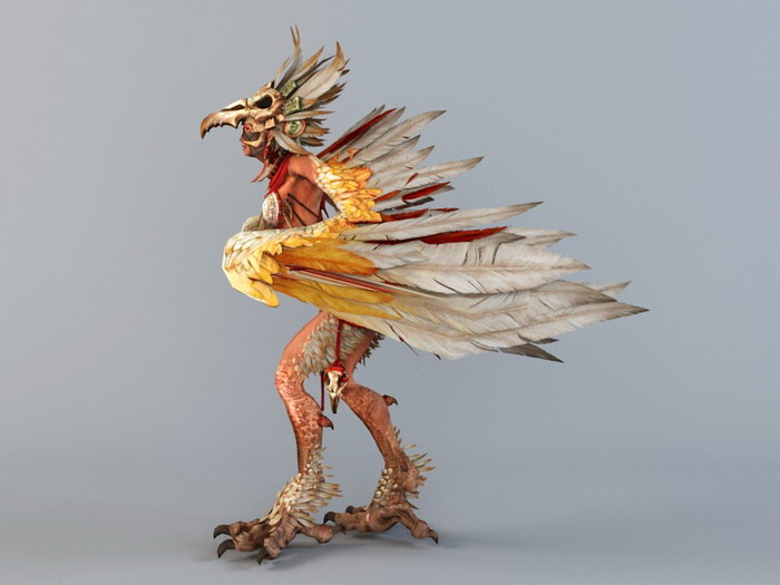 Fury Harpy 3d rendering
