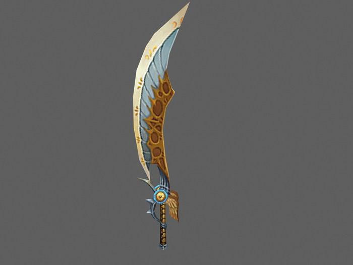 Crescent Sword 3d rendering