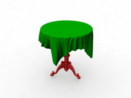 Antique Round Table 3d preview