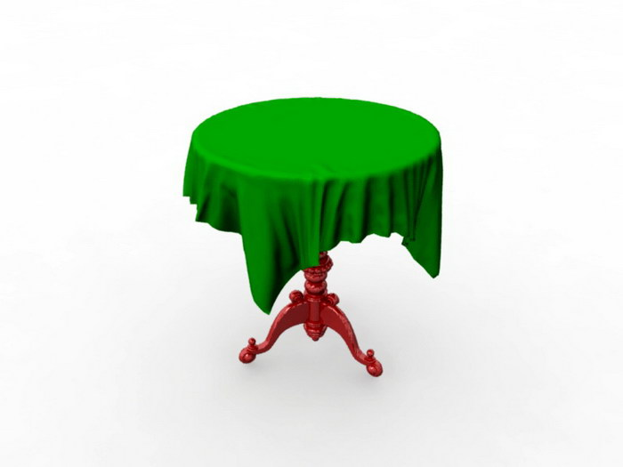 Antique Round Table 3d rendering