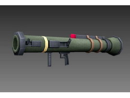 Handheld Anti-tank Rocket Launcher 3d preview