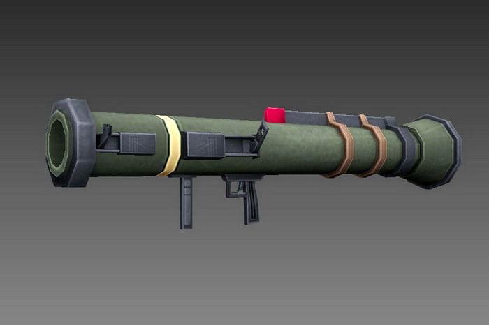Handheld Anti-tank Rocket Launcher 3d rendering