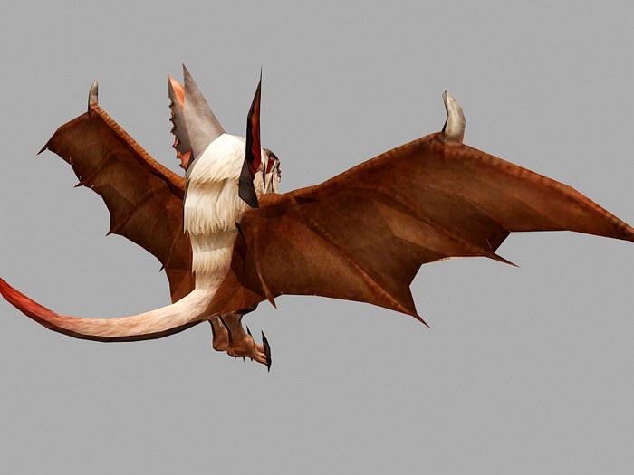 Bat Monster Anime 3d rendering