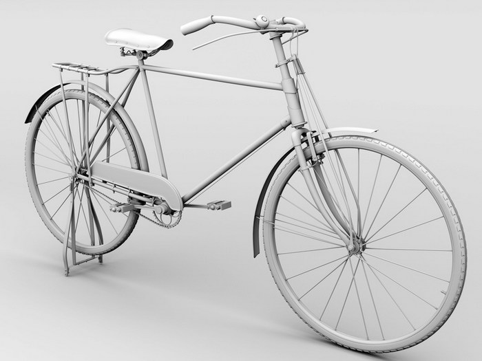 Vintage Bicycle 3d rendering