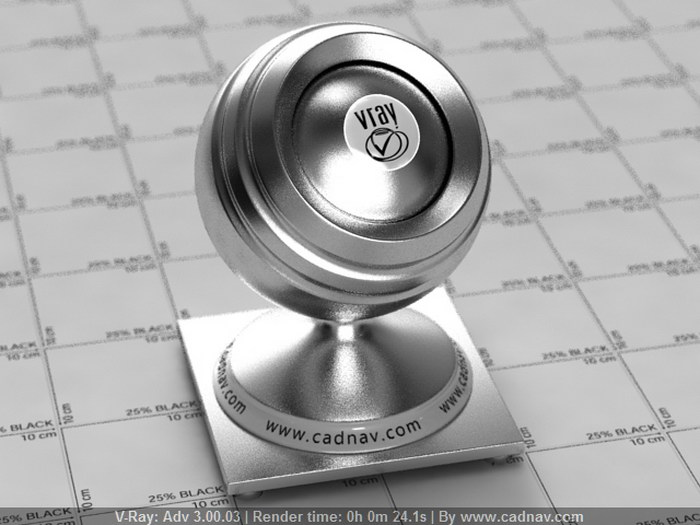 Brushed Aluminum Finish material rendering