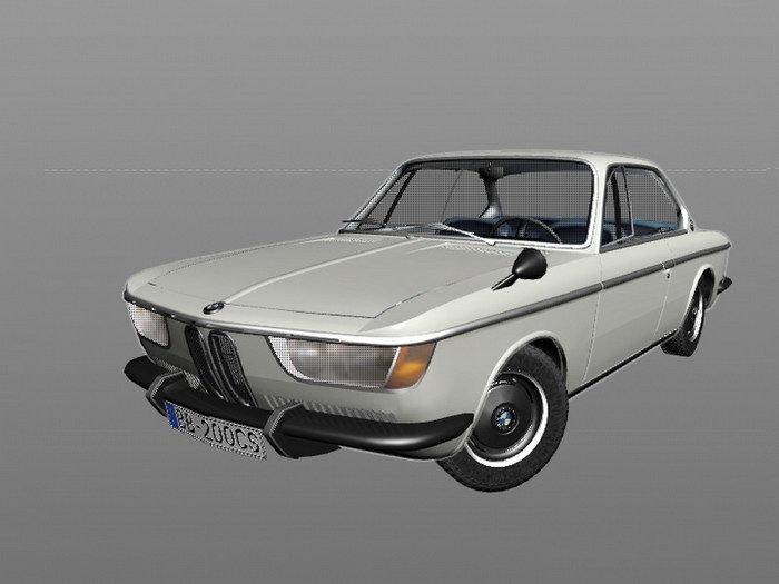 BMW 2000CS Coupe 3d rendering