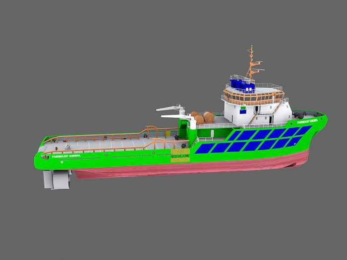 Tugboat 3d rendering