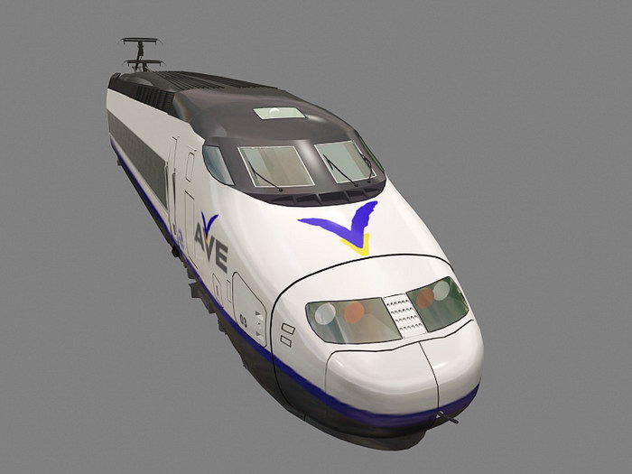 AVE High Speed Train 3d rendering