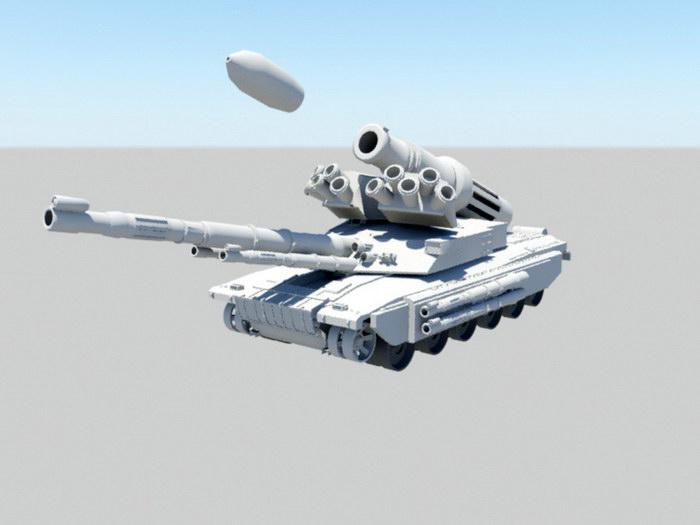 Futuristic Super Tank 3d rendering