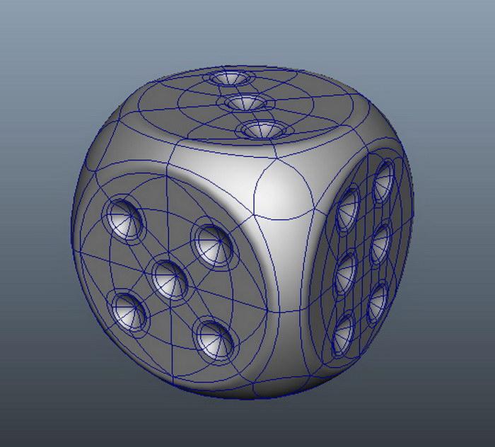 Cube Dice 3d rendering