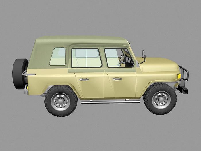 Beijing BJ212 Jeep SUV 3d rendering