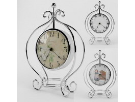 Three Vintage Clocks 3d preview