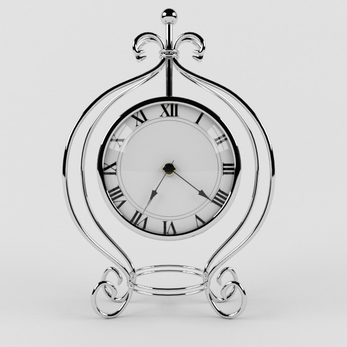 Three Vintage Clocks 3d rendering