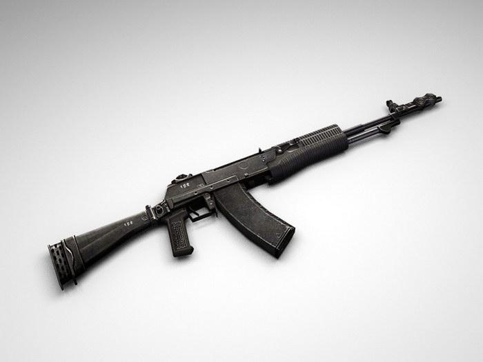 AN-94 Assault Rifle 3d rendering