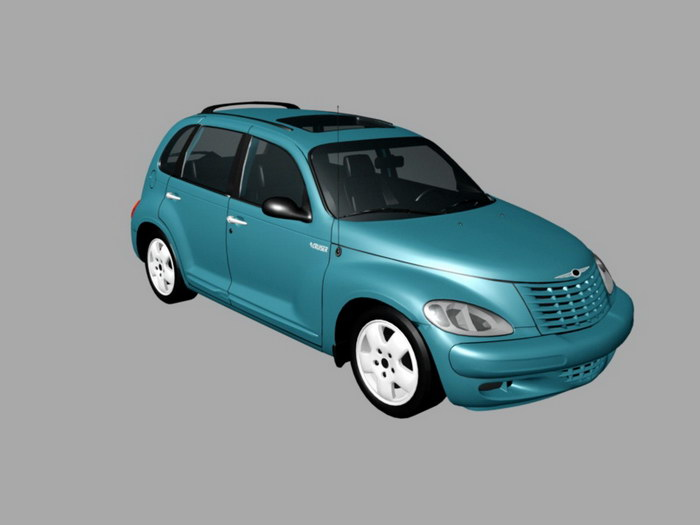 Chrysler PT Cruiser Classic Hatchback 3d rendering