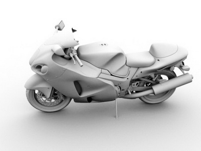Sport Bike 3d rendering