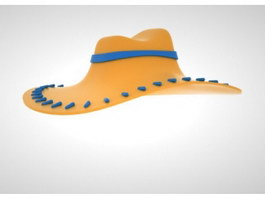 Orange Cowboy Hat 3d preview