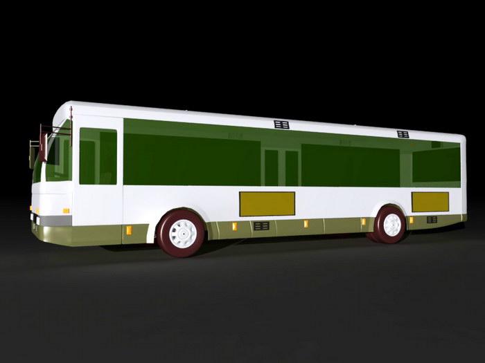 Public Transit Bus 3d rendering