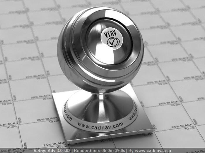 Satin Stainless Steel material rendering