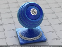 Blue Silk Fabric vray material