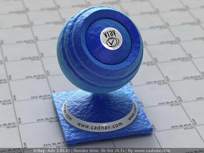 Blue Silk Fabric material rendering