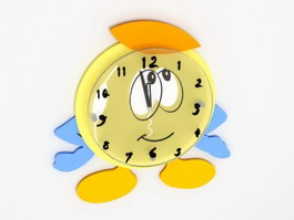 Cartoon Wall Clock 3d preview