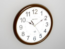 Retro Wall Clock 3d preview