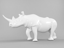 Ceramic Rhino 3d preview