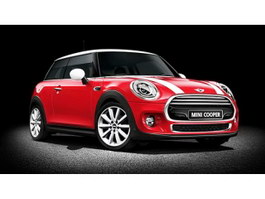 Red Mini Cooper 3d preview