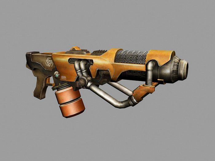Plasma Rifle Concept Art 3d rendering