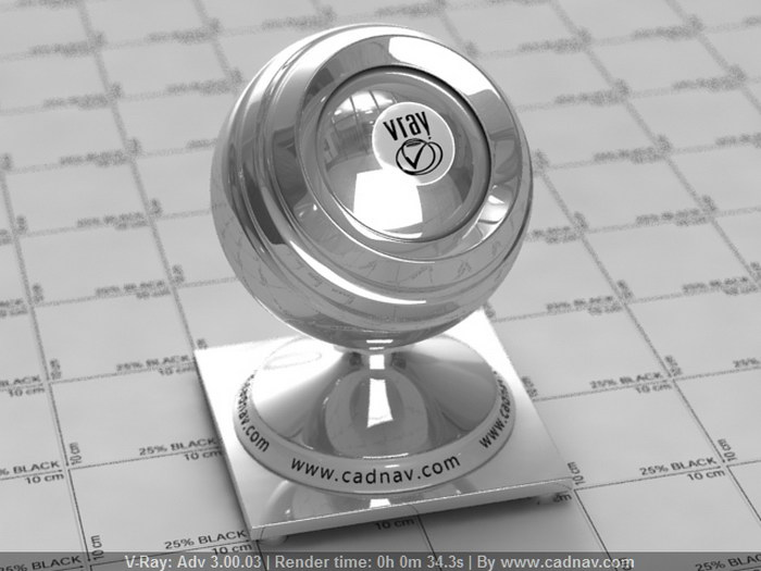 Polished Silver material rendering